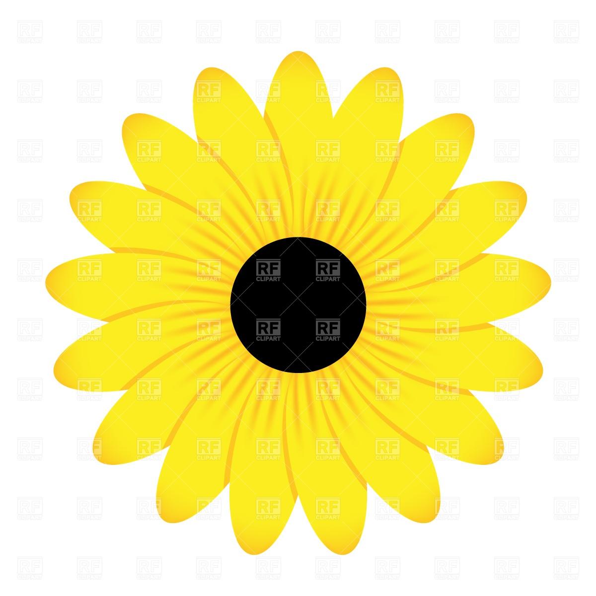 1200x1200 Yellow Flower Free Vector Clip Art Image