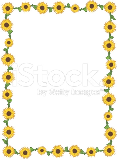 409x556 Free Sunflower Border Clip Art Clipart