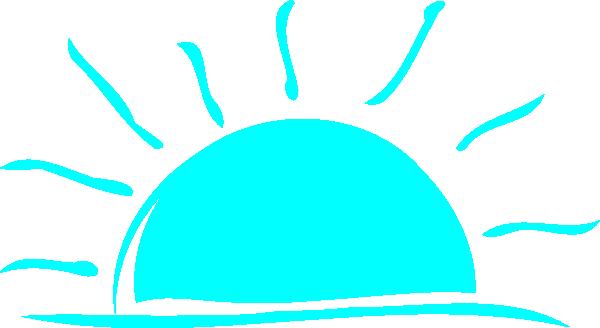 600x328 Teal Sunset Clip Art