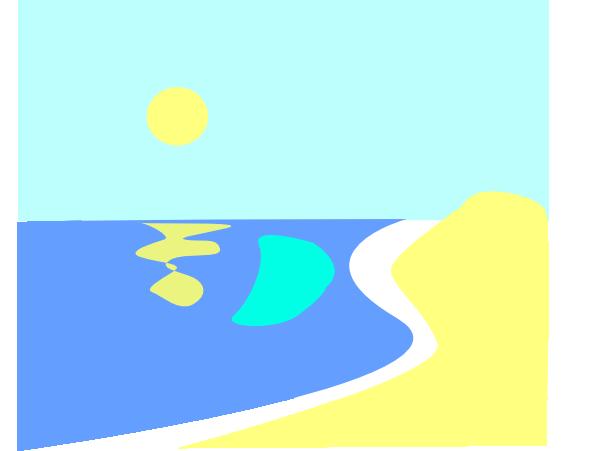 600x451 Beach Sunrise Clip Art