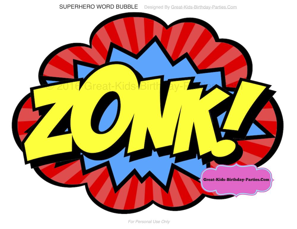 1000x773 Superhero Words Superhero Printables Clip Art 4