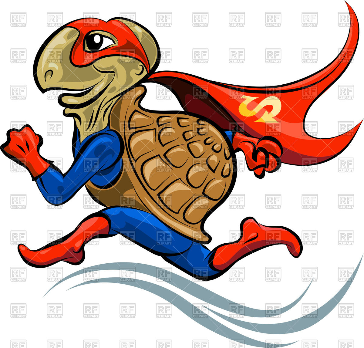 1200x1147 Cartoon Turtle In A Suit Of The Superhero Royalty Free Vector Clip