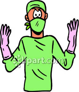 257x300 Surgical Gloves Cartoon Clipart