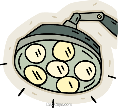 480x440 Medical Lamp, Surgical Lights Royalty Free Vector Clip Art