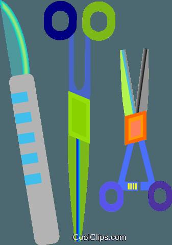 337x480 Surgical Equipment, Scissor, Scalpel Royalty Free Vector Clip Art