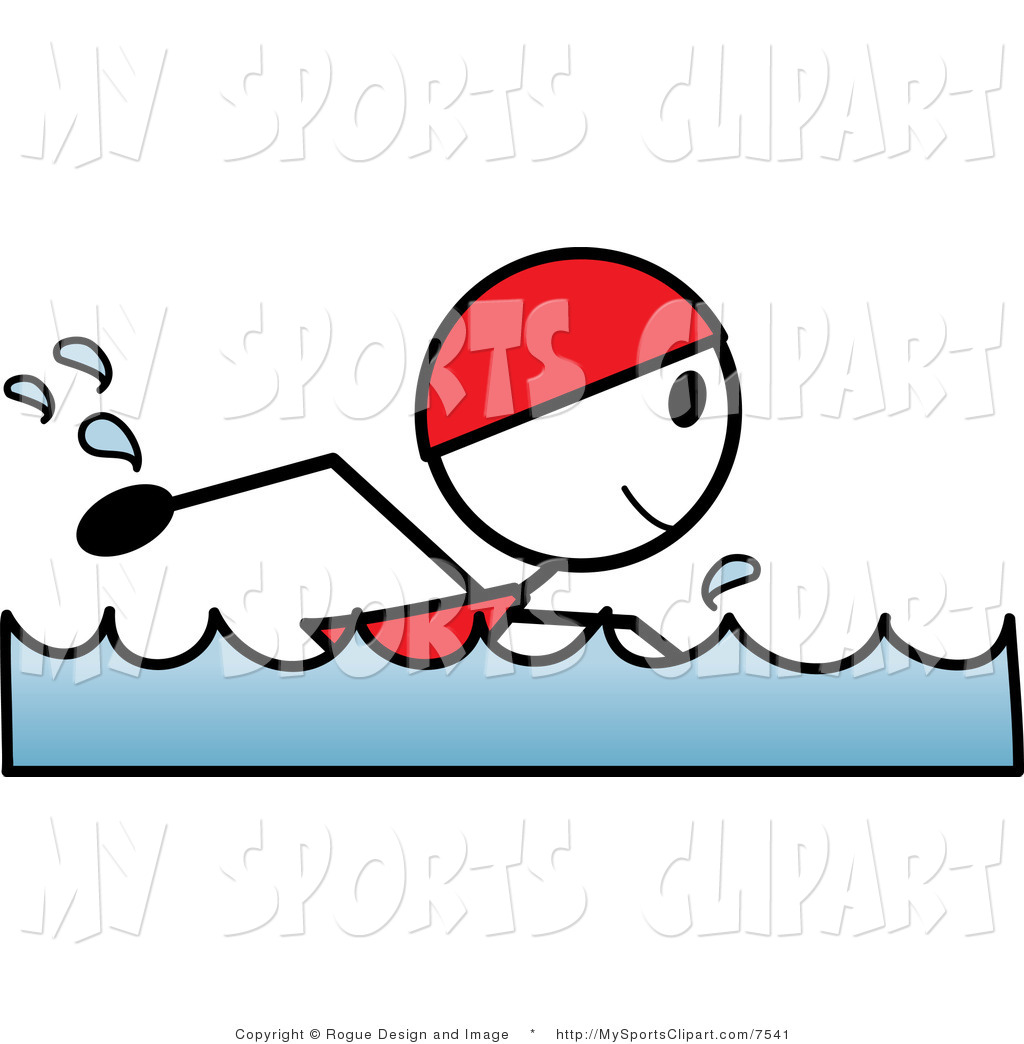 1024x1044 Sports Clip Art Of A Stick Person Swimming By Pams Clipart