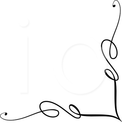 400x420 Swirl Border Clip Art