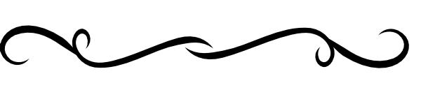 600x152 Black Swirl Divider Clip Art