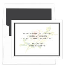 215x230 Sympathy Cards, Personalized Sympathy Acknowledgement Cards