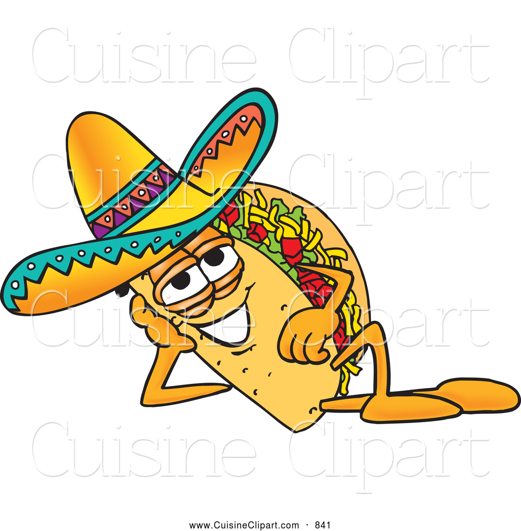 1024x1044 Cuisine Clipart Of A Tasty Taco Mascot Cartoon Character Resting