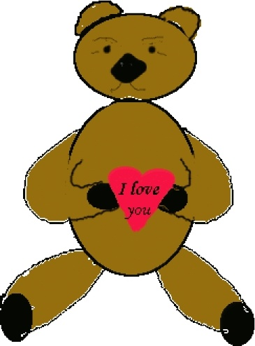 365x494 Love Bear clip art Free vector in Open office drawing svg ( svg