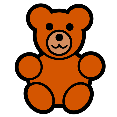 500x500 6377 Free Clipart Teddy Bear Outline Public Domain Vectors