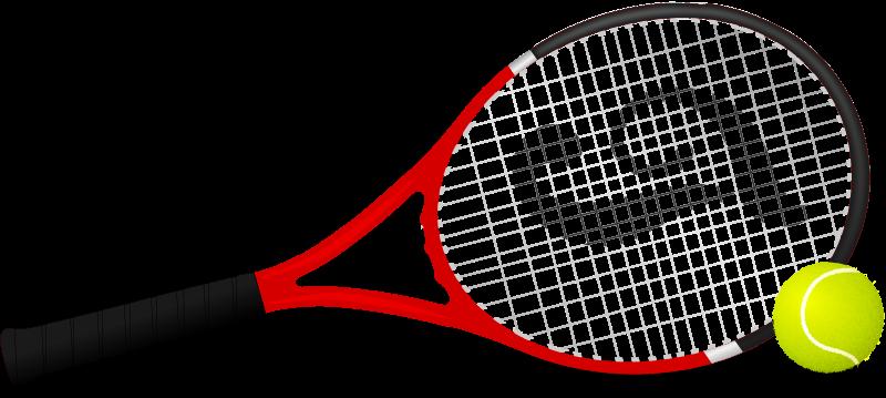 800x359 Free Tennis Racket Clip Art