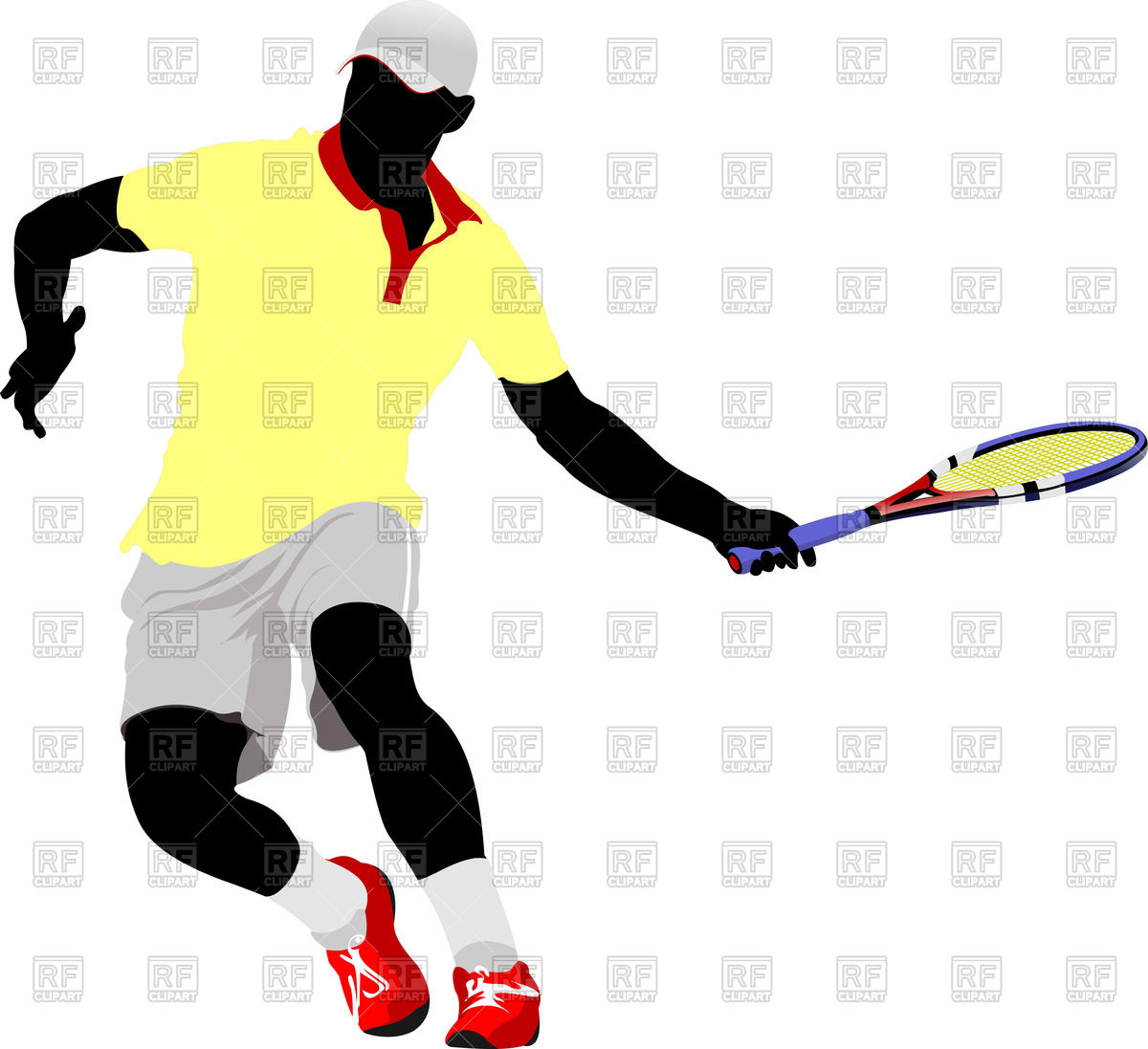 1200x1097 Silhouette Of Tennis Player In Action Royalty Free Vector Clip Art