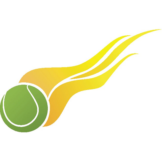 660x660 Tennis Ball On Fire Free Vector Free Vectors Tennis