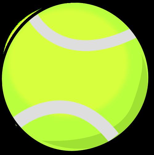500x504 Free Tennis Ball Clipart Image