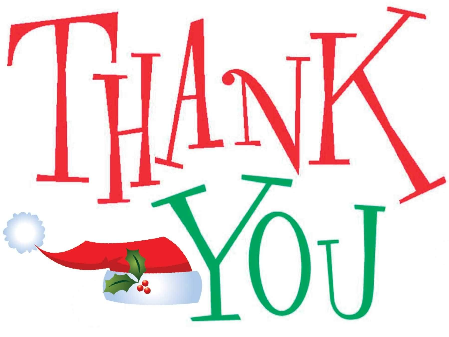 1800x1350 Thank You Free Free Christmas Thank You Clipart Images