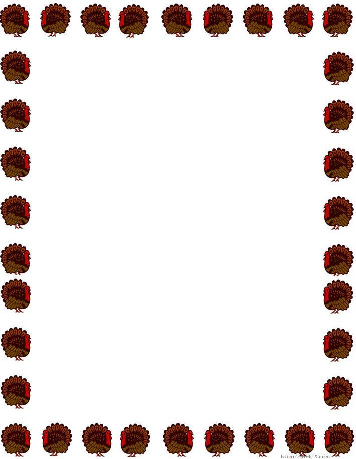 710x915 Printable Thanksgiving Borders