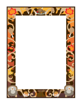 281x364 This Thanksgiving Border Brings In Fall Colors Along With Turkeys