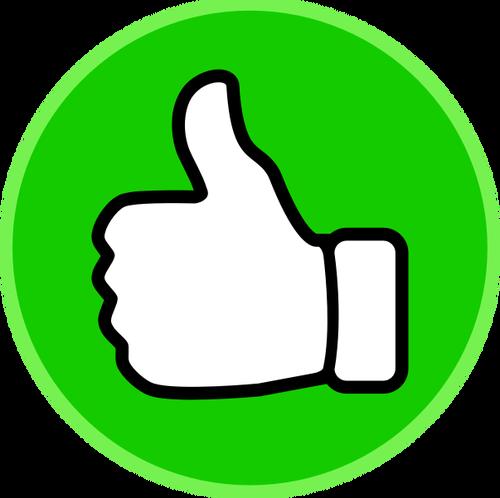 500x498 10576 Free Thumbs Up Vector Icon Public Domain Vectors