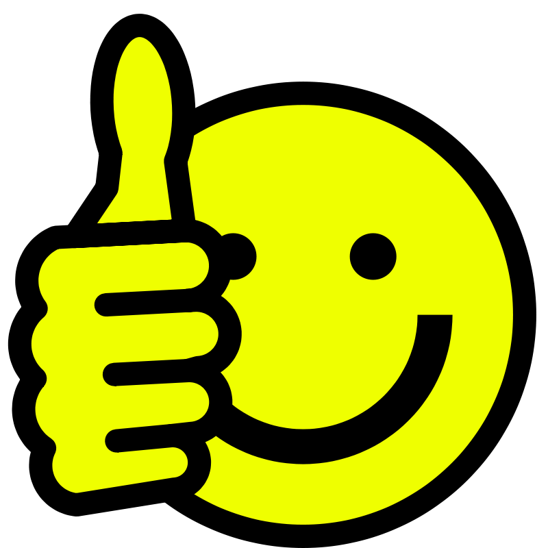 800x800 Smiley Face Clip Art Thumbs Up Free Clipart Images