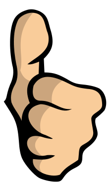 222x384 Thumbs Up Clipart