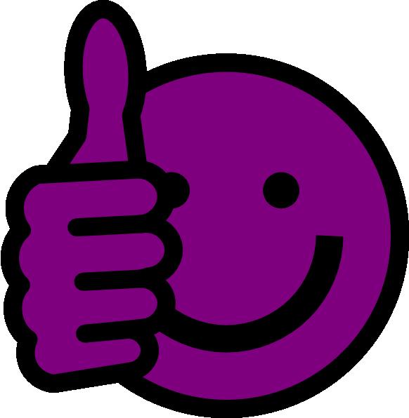 582x596 Purple Thumbs Up Clip Art