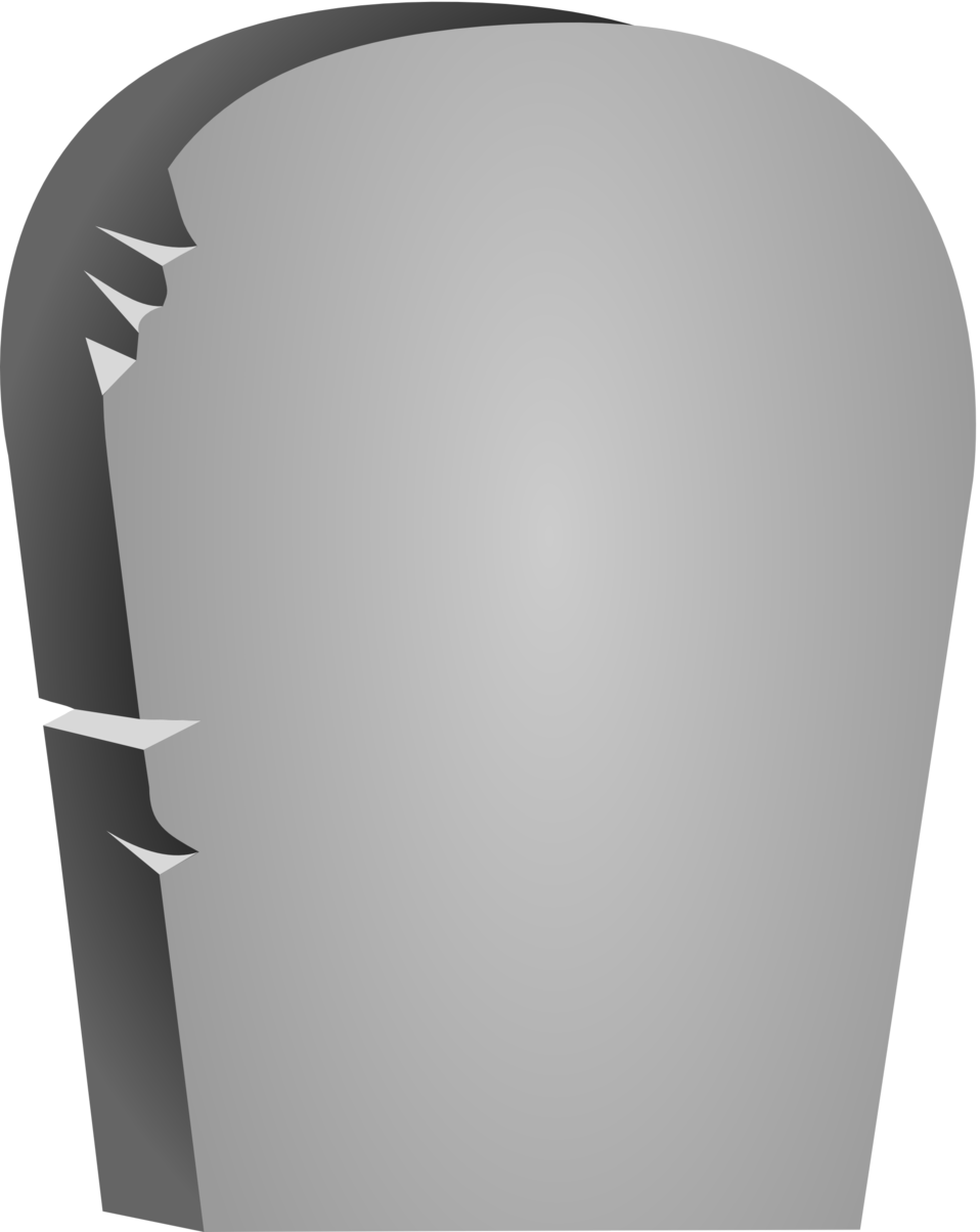 958x1204 Public Domain Clip Art Image Illustration Of A Blank Tombstone