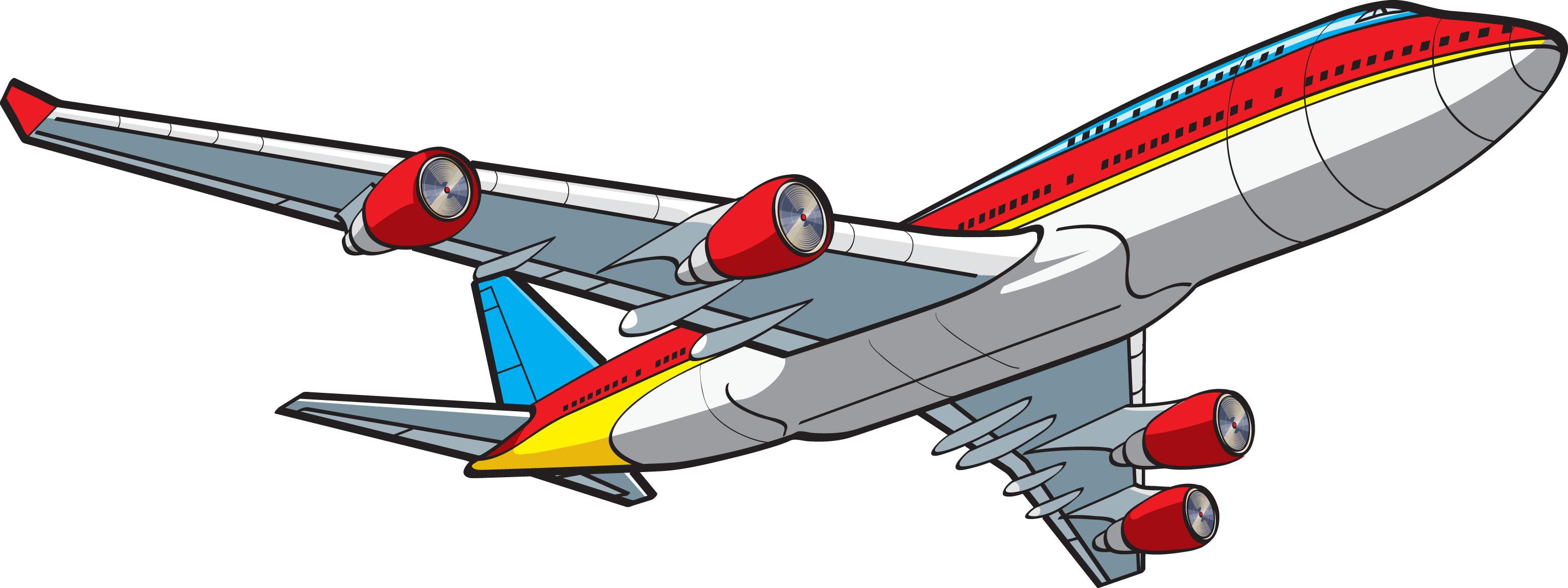 3072x1151 Clip Art Airplane Travel Clipart