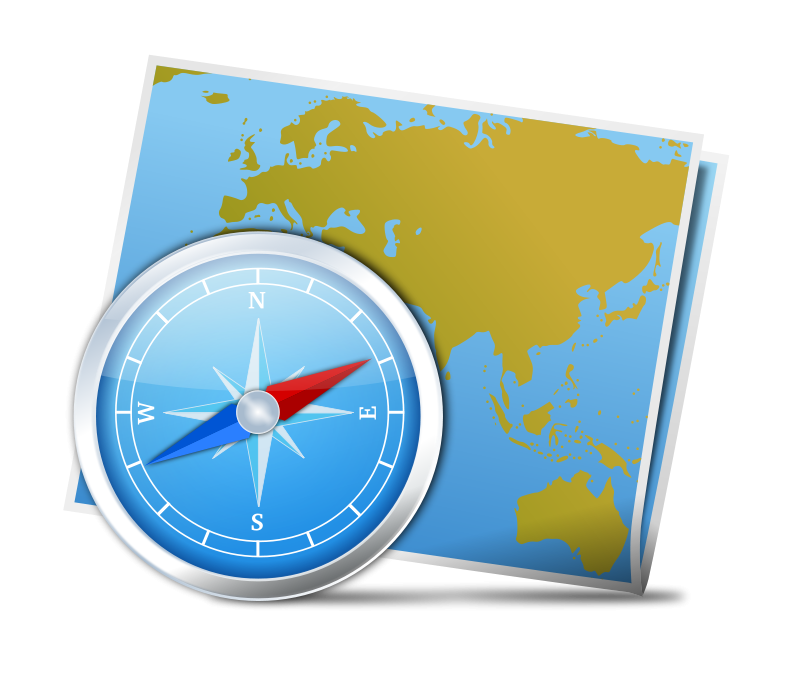 800x689 Free Map Amp Compass Clip Art