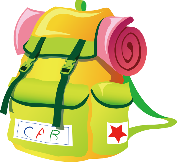 600x550 Free Travel Backpack Clipart Image