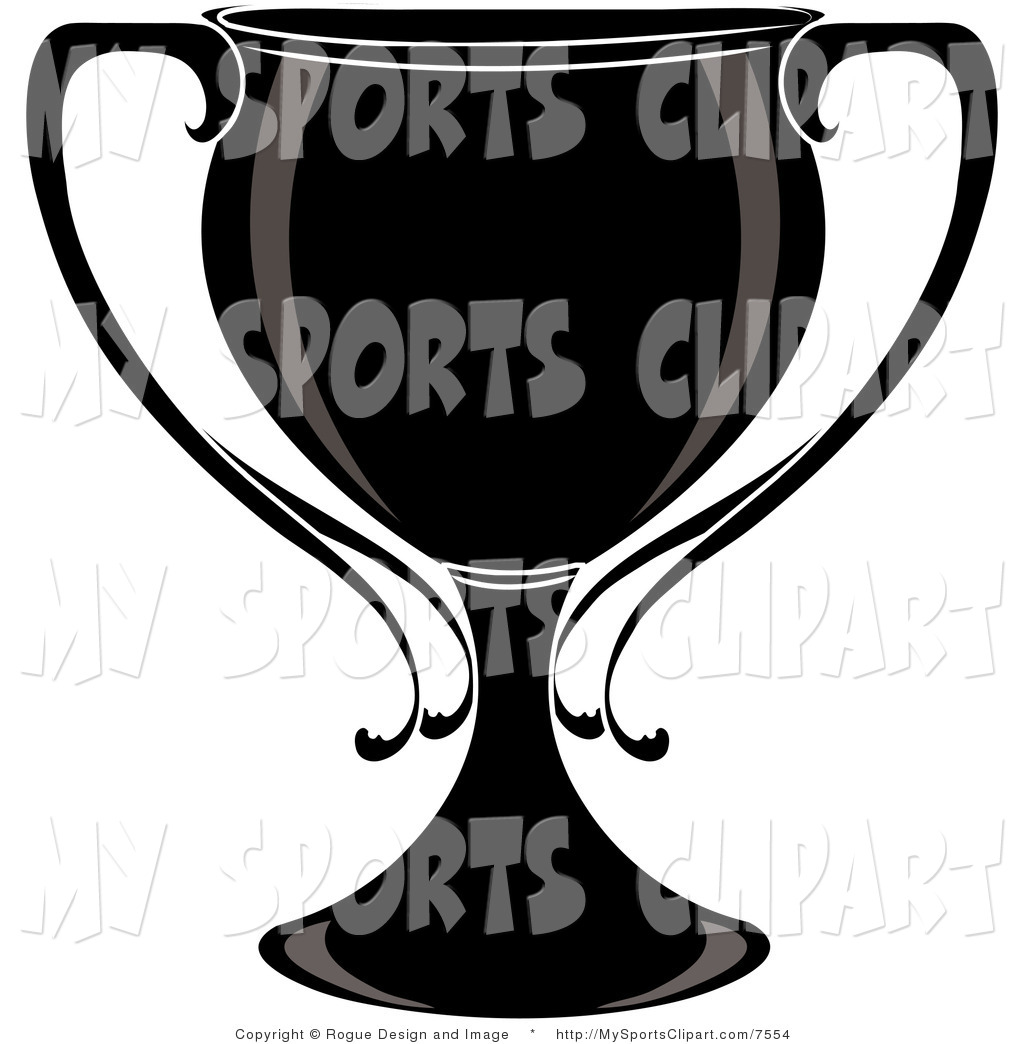 1024x1044 Sports Clip Art Of A Black And White Trophy By Pams Clipart