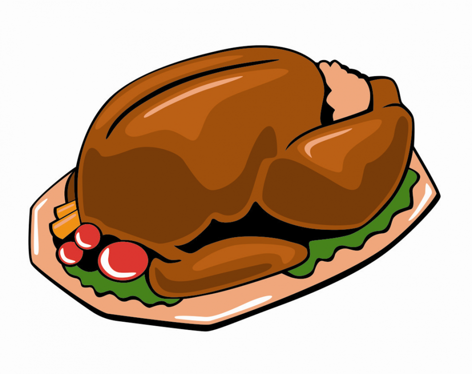 970x769 Coloring Pages Cartoon Cooked Turkey Clipart Free Clip Art