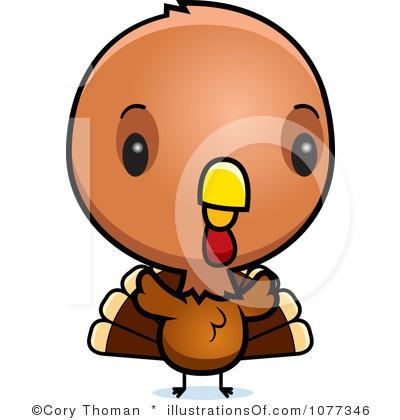 400x420 Cute Turkey Clipart