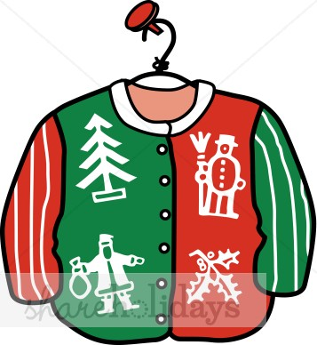 Ugly christmas sweater traditional. Free clipart download best