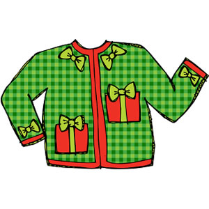 Ugly christmas sweater red. Free clipart download best