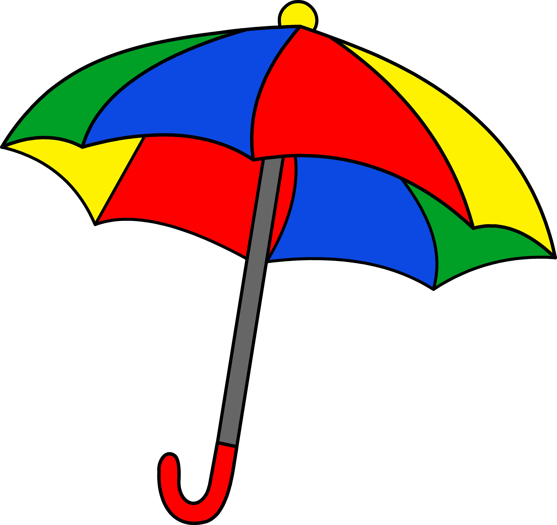 5382x5071 Simple Colorful Umbrella Clipart