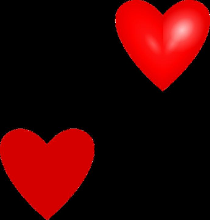 690x720 Valentine Hearts Clipart, Red Hearts Clip Art