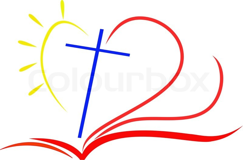 800x528 Rose Cross And Bible Clipart