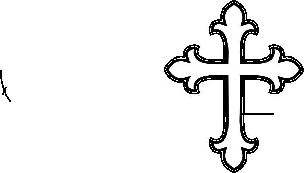 600x343 White Cross Clip Art