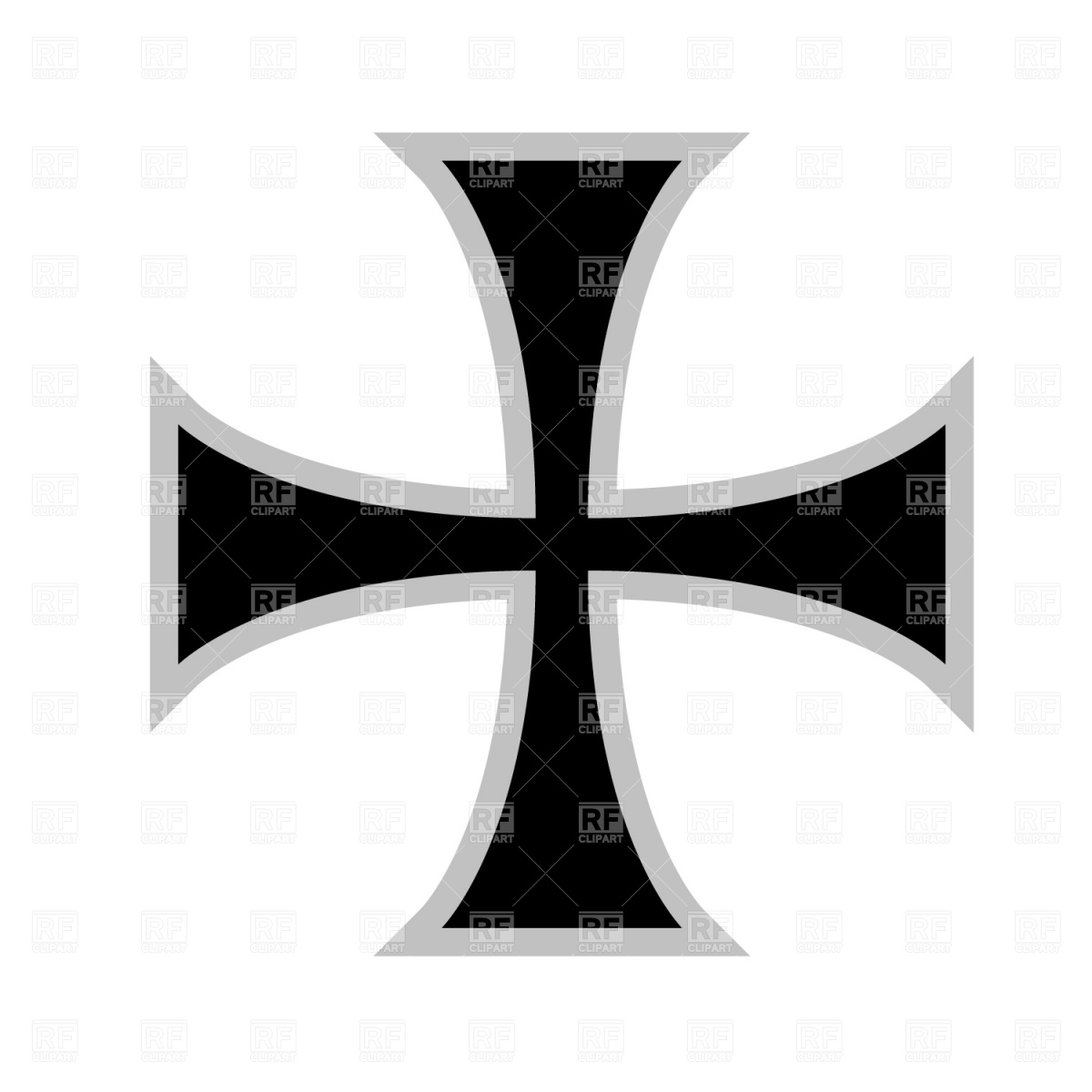 1200x1200 Cross Royalty Free Vector Clip Art Image