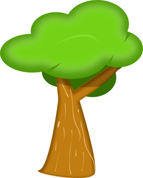 480x595 Soft Trees Clip Art Free Vector 4vector
