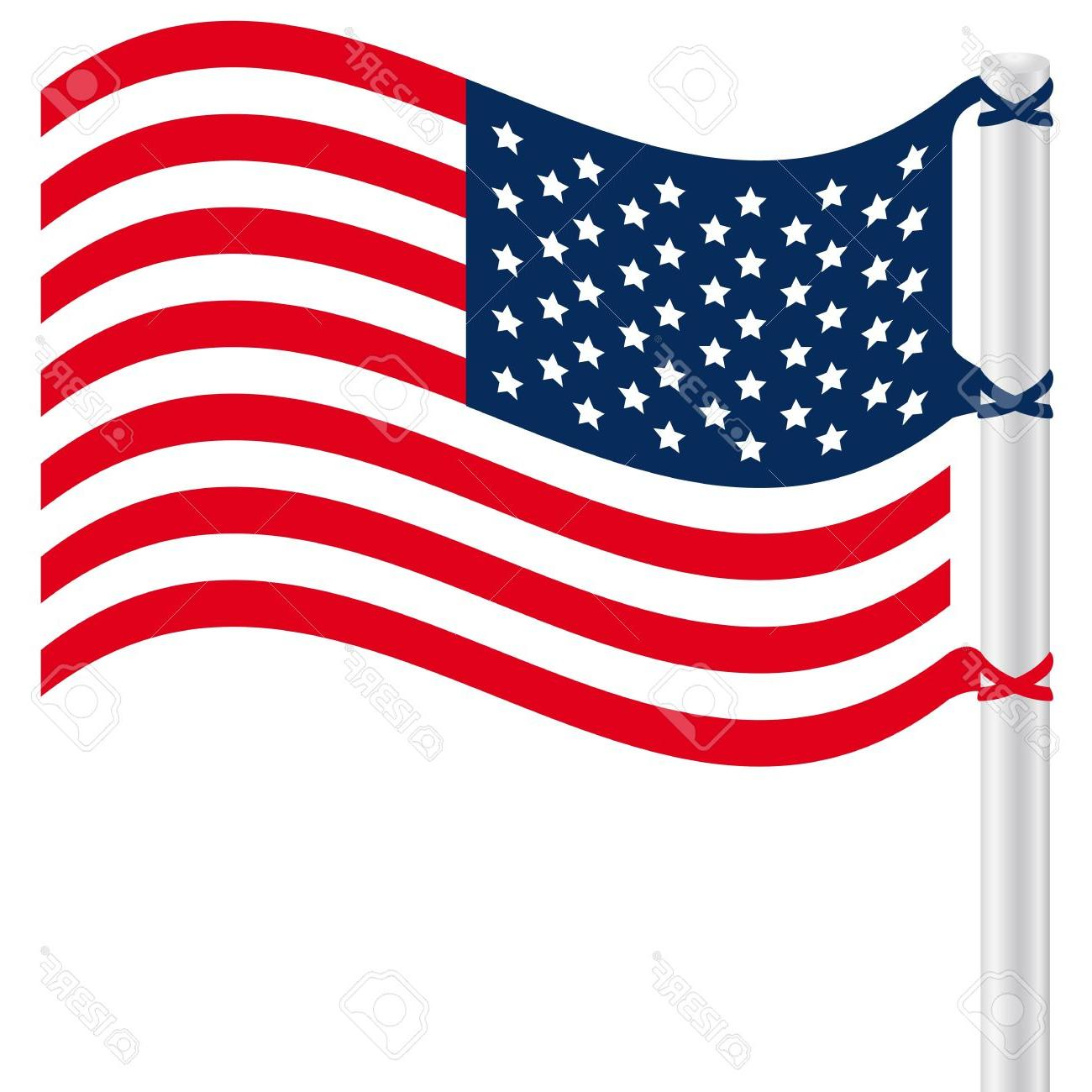 1300x1300 Best Free Waving American Flag Clip Art Design