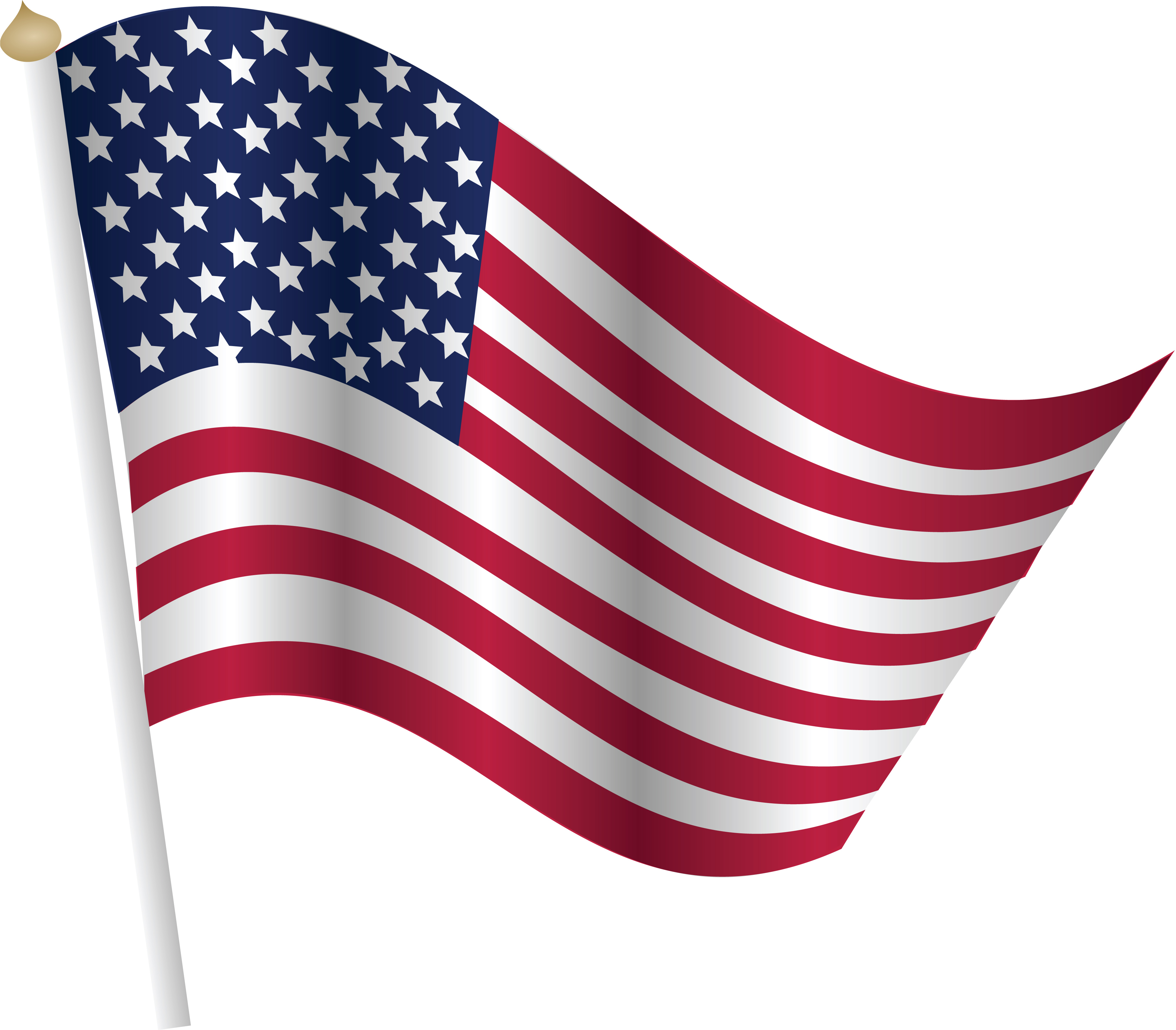 4000x3503 Clipart Of A Fourth Of July United States Flag