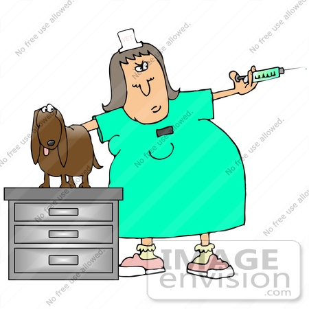 450x450 Clip Art Graphic Of A Stressed Out Dog On A Table In An Exam Room