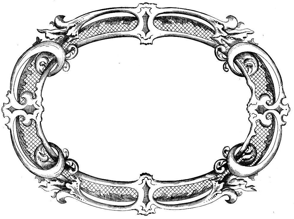 989x737 Victorian Clipart Art Frame