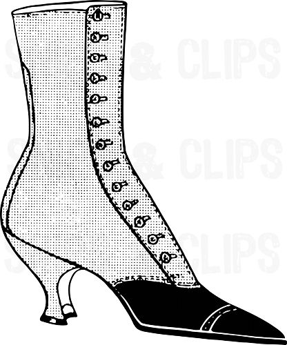 416x500 Victorian Clipart Boot