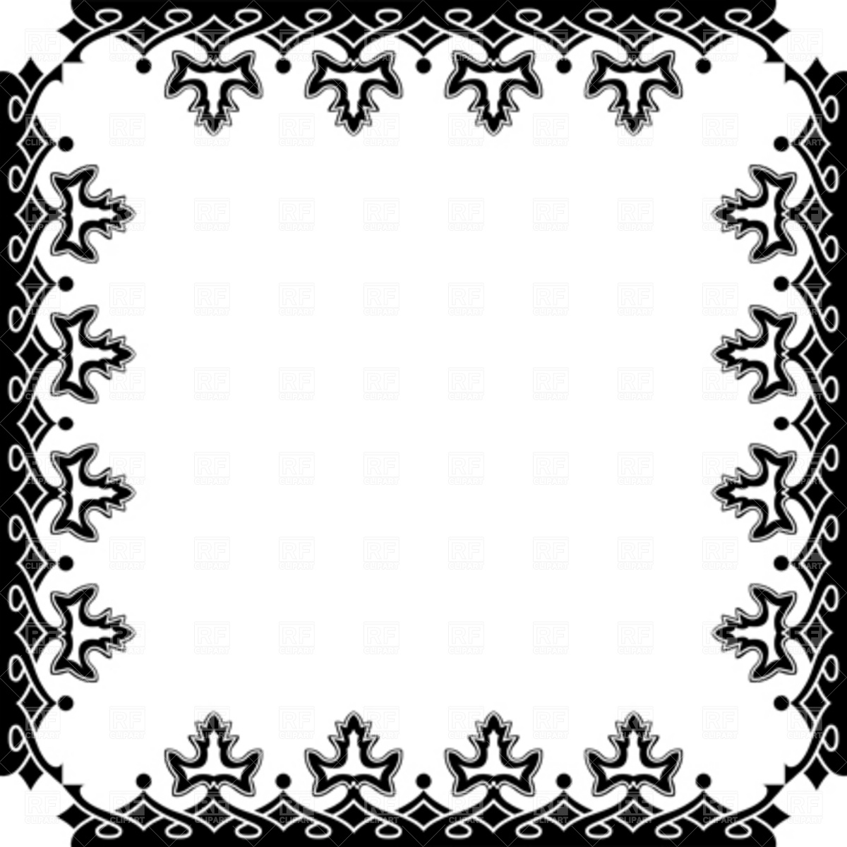 1200x1200 Victorian Frame Royalty Free Vector Clip Art Image