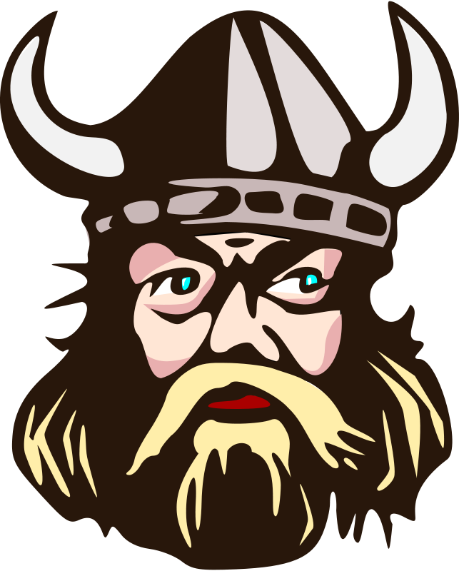 643x800 Free Clipart Viking Head With Horn Salvor