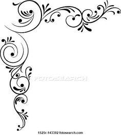 236x266 Free. Page Border Designs Fancy Vine Corner Border Design Image